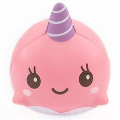 kawaii pink narwhal whale animal scented squishy by iBloom 1
