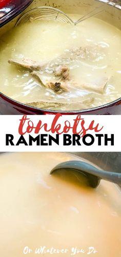 Tonkotsu Ramen Broth - My WordPress Website Ramen Recipes, Pork Recipes, Asian Recipes, Cooking Recipes, Noodle Recipes, Japanese Recipes, Ramen Soup, Ramen Noodle, Bento