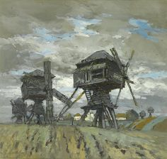Wind Mills by Konstantin Gorbatov, 1911
