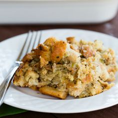 Traditional Bread Stuffing Recipe | Brown Eyed Baker