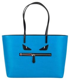 6a20ab8f44be Fendi Monster Roll Blue Tote Bag. Get one of the hottest styles of the  season. Tradesy