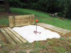 make a horse shoe pit outside for guests to play and an area with board games.
