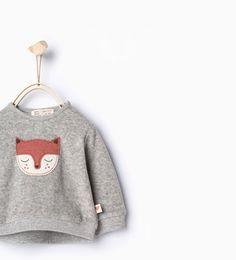 Image 1 of Fox sweatshirt from Zara