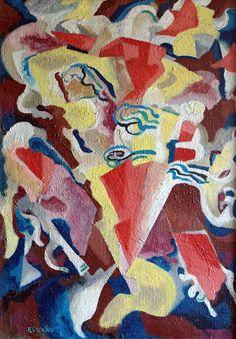 Zwei Maedchen, c. 1927 by Fritz Schaefler (German 1888-1954)