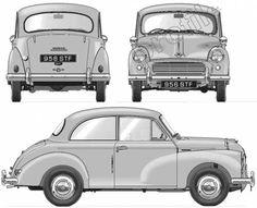 Blueprints > Cars > Morris > Morris Minor 1000 Million Morris Minor, Antique Trucks, Antique Cars, Classic European Cars, Automobile, Wooden Toy Cars, Small Cars, Sexy Cars, Vintage Cars