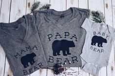 B A B Y B E A R T E E!  Extremely soft, t-shirt. Second photo for reference only. Looking for matching MAMA bear shirt? --->https://www.etsy.com/listing/476128482/mama-bear-tee  Whole family set?--->https://www.etsy.com/listing/489629685/mama-bearpapa-bearbaby-bear-family-t