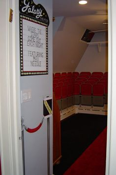 Movie Theater Themed Bedroom   Wish I Could See The Rest Of The Room!