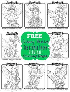 Disney Fairies The Pirate Fairy Free Printable Coloring Pages