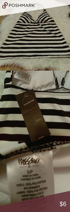 Black and white swimming suit top ONLY. See pictures for details. Massimo Swim