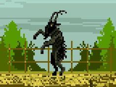 Black Phillip, 8 Bit, Pixel Art, Lol, Goats, Horror, Alternative, Films, Cross Stitch