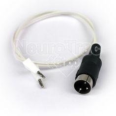 Adaptateur Din / Banane Male. Compatible avec les électrostimulateurs Neurotrac. Pou en savoir plus http://www.neurotracshop.com/s/31307_187025_cordon-adaptateur-sonde-din-banane-male