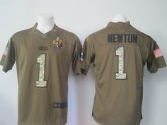 Nike Panthers #1 Cam Newton Green Men's Stitched NFL Limited ...