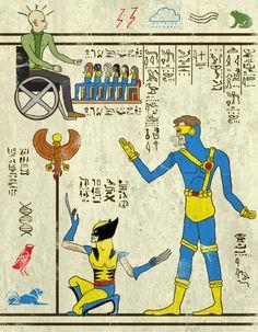 El diseñador e ilustrador Josh Lane rinde homenaje al arte antiguo y en especial a los jeroglificos egipcios a través de su pasión por la cultura geek mezclando a personajes de la talla de los vengadores, las tortugas ninja o star trek con el típico estilo egipcio en unas divertidas y sorprendentes ilustraciones. Una muy buena idea y un muy buen resultado entre la cultura pop y la historia del arte. También podéis echar un vistazo a su sección en Society6, con un montón de artículos a la…