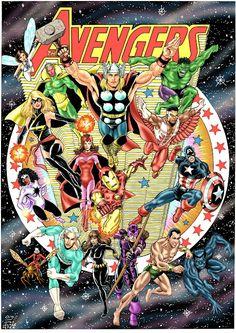 Is time for a homage: JLA 217 by George Pérez! Batwoman, Nightwing, Batgirl, Avengers Art, Avengers Comics, Archie Comics, Marvel Heroes, Comic Superheroes, Luke Cage