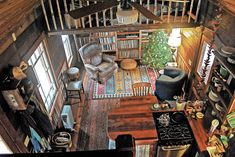 """This tiny home with TWO lofts looks anything but spartan, right? Raise your hand if you can SO imagine yourself living here. See more about Tiny Homes in Lloyd Kahn's book excerpt, """"Mortgage-Free Living in a Hand-Built Tiny Home."""""""