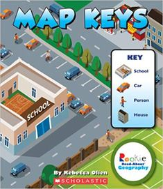 Map Keys (Rookie Read-About Geography): Maps vary widely in complexity, from simple road maps to detailed topographical maps. Readers will learn why map keys are important and how to use them to interpret the data on different kinds of maps. Geography Map, Human Geography, Teaching Maps, Procedural Text, School Car, Homeschool Books, Homeschooling, Community Activities, Map Skills
