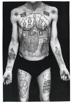 The Russian Criminal Tattoo Police Files Documents Intricate Inks #tattoos trendhunter.com