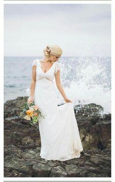Hochzeitskleid, schlicht und elegant