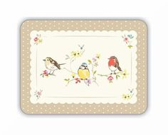 Cooksmart Dawn Chorus Bird Placemat Set of 4 Table Mat Place Retro Vintage Style Packing, Frame, Table, Home Decor, Dawn, Kitchen, Ideas, Products, Bag Packaging