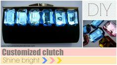 Clutch de pedrería customizado / Customized clutch www.manualidadesytendencias.com #manualidades #DIY #crafts