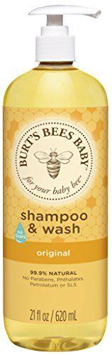 Burt's Bees Baby Shampoo & Wash, Original, 21 Ounces: Burt's Bees Baby Bee Shampoo and Body Wash - Scented - 21 oz Baby Gift Sets, New Baby Gifts, Fragrance Free Shampoo, Baby Soap, Organic Shampoo, Baby Shampoo, L'oréal Paris, Burts Bees, Natural Baby