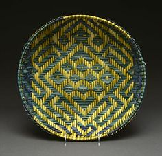 Hopi Twill Sifter Basket by Marilyn Nevayaktewa - The Kerran might plait readily available plant materials to form baskets, tapestries, and screens.