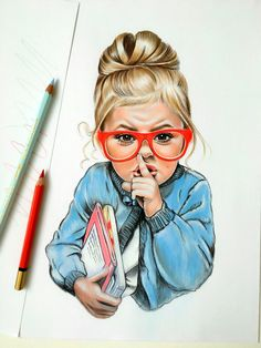 Natalia Vasiljeva Shhhh - colored pencil
