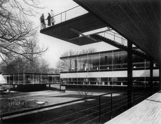 Sep Ruf & Egon Eiermann - German pavilion at the world expo, Brussels, 1958.