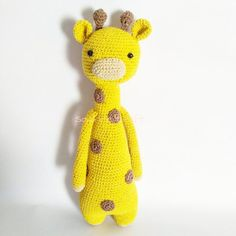 Giraffe by sourirecraft. Crochet pattern by Little Bear Crochets: www.littlebearcrochets.com ❤️ #littlebearcrochets #amigurumi