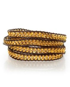 Zad Against the Chain Brown and Gold Wrap Bracelet