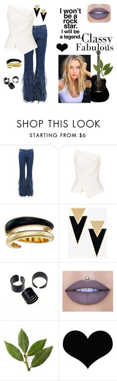 """Guitar"" by babis117 ❤ liked on Polyvore featuring Michael Kors, Roland Mouret, Yves Saint Laurent and Jeffree Star"