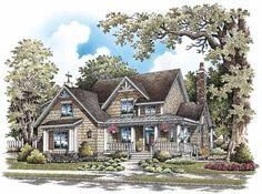 Bungalow House Plan with 1844 Square Feet and 3 Bedrooms from Dream Home Source | House Plan Code DHSW69182