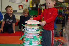 Yertle the Turtle stacking & counting. Dr. Seuss activity- great for measurement too