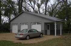 I want this Lester Building! Pole Barn Garage, Morton Building, Metal Buildings, My Dream Home, Barns, Home Remodeling, Shed, Outdoor Structures, Colors