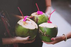 Greeted with fresh & delicious coconut water! #iloveluxresorts
