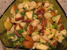 Pear, apple, and pecan salad, a recipe from an upcoming SpiderHawk cookbook.