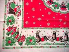 from my vintage tablecloth collection