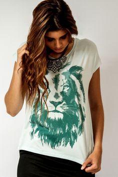 Leão de Judá - Feminino - Camisetas cristãs