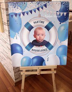 Denizci konsepti doğum günü karşılama panosu Happy B Day, Little Ones, Paper, Birthday, Kids, Crafts, Parties, Inspiration, Home Decor