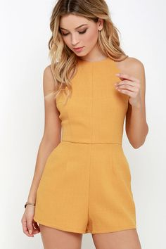 Flight to Florianopolis Golden Yellow Romper