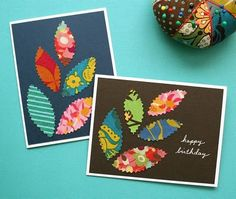 Homemade fabric cards