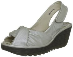 Fly London Womens Yakin Silver Wedge 40 M EU 9 US * Check out the image by visiting the link.(This is an Amazon affiliate link and I receive a commission for the sales)