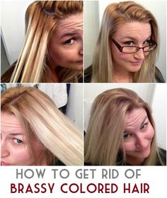 The right way to tone brassy hair into cool toned blonde in 15 the right way to tone brassy hair into cool toned blonde in 15 minutes tresses pinterest brassy hair blondes and ash blonde hair urmus Choice Image