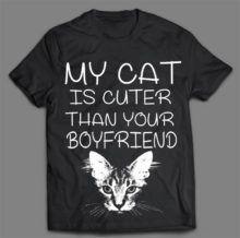 MY CAT IS CUTER T-SHIRT