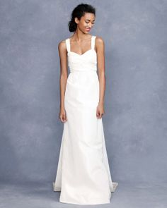 White dress- I think it'd work with a white, black or blue jacket, depending on everything going on.