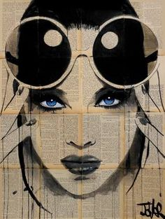 artist_loui_jover_creates_adorable_portraits_of_women_with_b.- artist_loui_jover_creates_adorable_portraits_of_women_with_black_ink_on_newspape… - Illustration Photo, Illustration Mode, Journal D'art, Collage Kunst, Pop Art, Newspaper Art, Photo Portrait, Art Graphique, Female Art