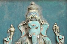Ganesh Lord Ganesha, Visionary Art, My Scrapbook, Pagan, Buddha, Spirituality, Aqua, Turquoise, Statue