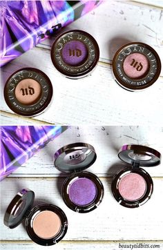 With 3 full-sized eyeshadows and 3 full-sized 24/7 eyeliner pencils plus a deluxe sized primer, Urban Decay Urban Essentials Eye Kit is an amazing value set for only $48! Click through for more details and swatches! These are the 3 eyeshadows that are included in the set - Sellout, Psychedelic Sister and Bordello