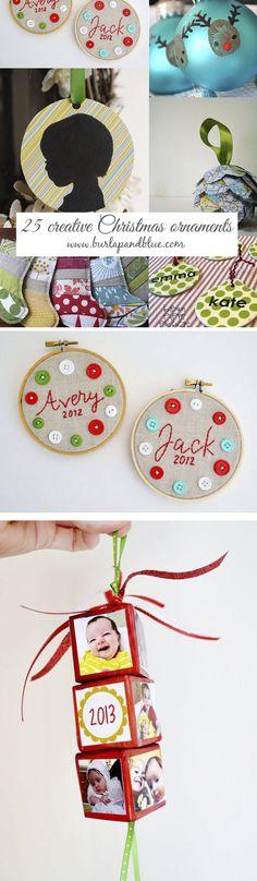 creative christmas ornaments to make!