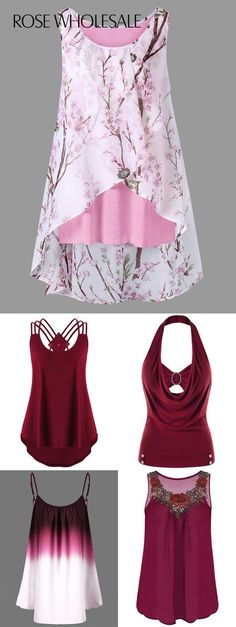 Up to rosewholesale tank tops for women rosewholesale rosewholesale com rosewholesale clothes rosewholesale com clothing rosewholesale tops spring outfit floral tank tops rosewholesale tanktops tops Look Fashion, Fashion Outfits, Womens Fashion, Fashion Trends, Cheap Fashion, Pretty Outfits, Beautiful Outfits, Plus Size Crop Tops, Mode Jeans